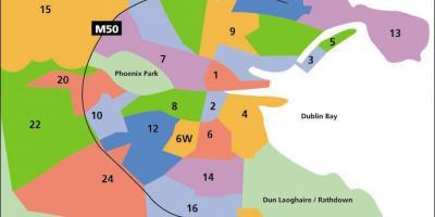 Dublin Kort Kort Dublin Irland